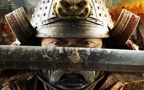 battle, video games, reflection, samurai, Total War Shogun 2, katana