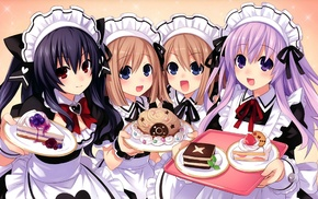 apron, Rom Hyperdimension Neptunia, Uni Hyperdimension Neptunia, food, maid, Hyperdimension Neptunia