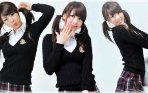 Hwang Mi Hee, collage, brunette, model, Korean, Asian