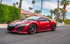 acura, Acura NSX 2017, Acura NSX, car, red cars