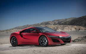 Acura NSX, Acura NSX 2017, car, red cars, acura