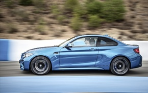 car, BMW, BMW M2, blue cars