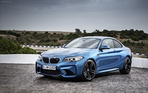 BMW, BMW M2, blue cars, car