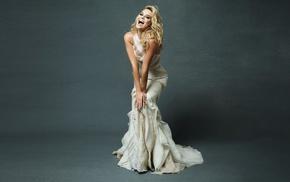 dress, gowns, Margot Robbie, actress, girl