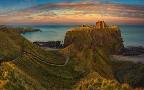castle, landscape