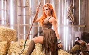 redhead, wrestling, WWE, dyed hair, Becky Lynch