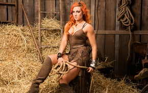 Becky Lynch, wrestling, dyed hair, redhead, WWE