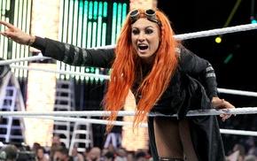Becky Lynch, dyed hair, redhead, wrestling, WWE