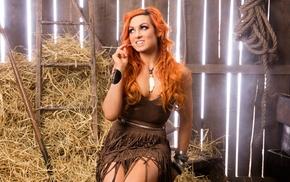 dyed hair, redhead, Becky Lynch, wrestling, WWE