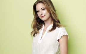 blonde, girl, Emily Vancamp, actress, celebrity, green background