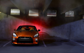 vehicle, orange cars, car, Nissan GT, R R35, Super Car