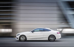 car, motion blur, vehicle, white cars, street, Mercedes