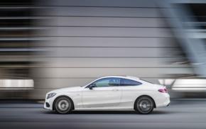 car, motion blur, vehicle, white cars, street, Mercedes