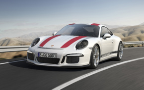 road, vehicle, motion blur, Porsche 911R, car