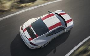 Porsche, vehicle, motion blur, road, Porsche 911R, car