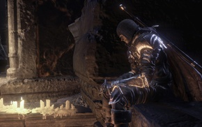 knight, landscape, midevil, video games, Gothic, Dark Souls III