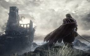 Dark Souls III, Gothic, video games, fighting, Dark Souls, landscape