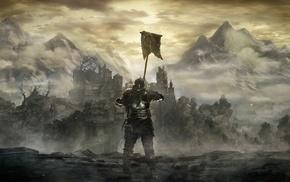 Dark Souls, knight, Gothic, Dark Souls III, landscape, dark