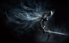 concept art, warrior, sword, armor, dark, Dark Souls