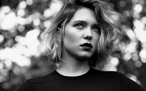 actress, girl, face, La Seydoux, portrait, short hair