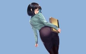 anime girls, short hair, anime