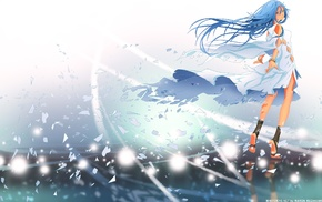aqua eyes, harmony, anime girls, long hair, braids, Miach