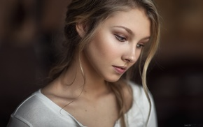 depth of field, Maxim Guselnikov, face, girl, portrait, Alice Tarasenko