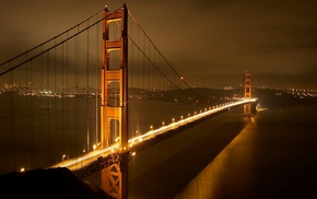 lights, photography, night, architecture, bridge