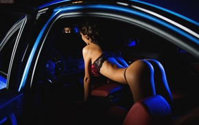 girl with cars, vehicle, car, model, BMW, ass