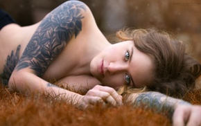 tattoo, sideboob, girl, girl outdoors, emotional, face