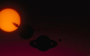 planet, Sol, space, Sun, artwork