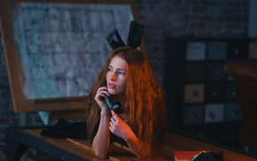 redhead, model, girl