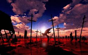artwork, anime, Neon Genesis Evangelion