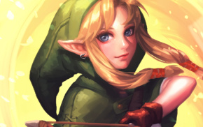 fantasy art, The Legend of Zelda, video games, Linkle, artwork