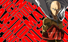 anime, One, Punch Man, artwork, anime boys, Saitama