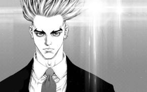 anime, Sun Ken Rock, anime boys, monochrome
