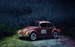 rain, Duff, vehicle, Volkswagen, Volkswagen Beetle, car