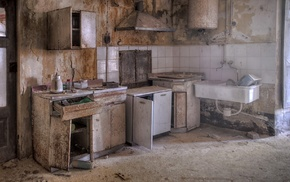 ruin, kitchen, interior