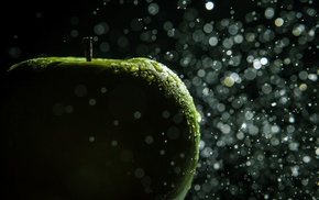 water, bokeh, macro, apples